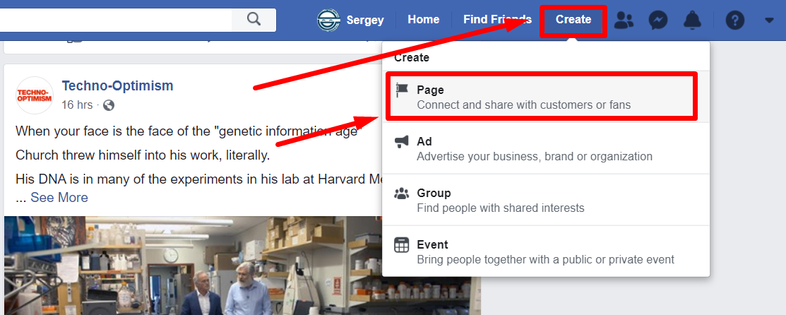 Facebook Business Page Create a Business Page