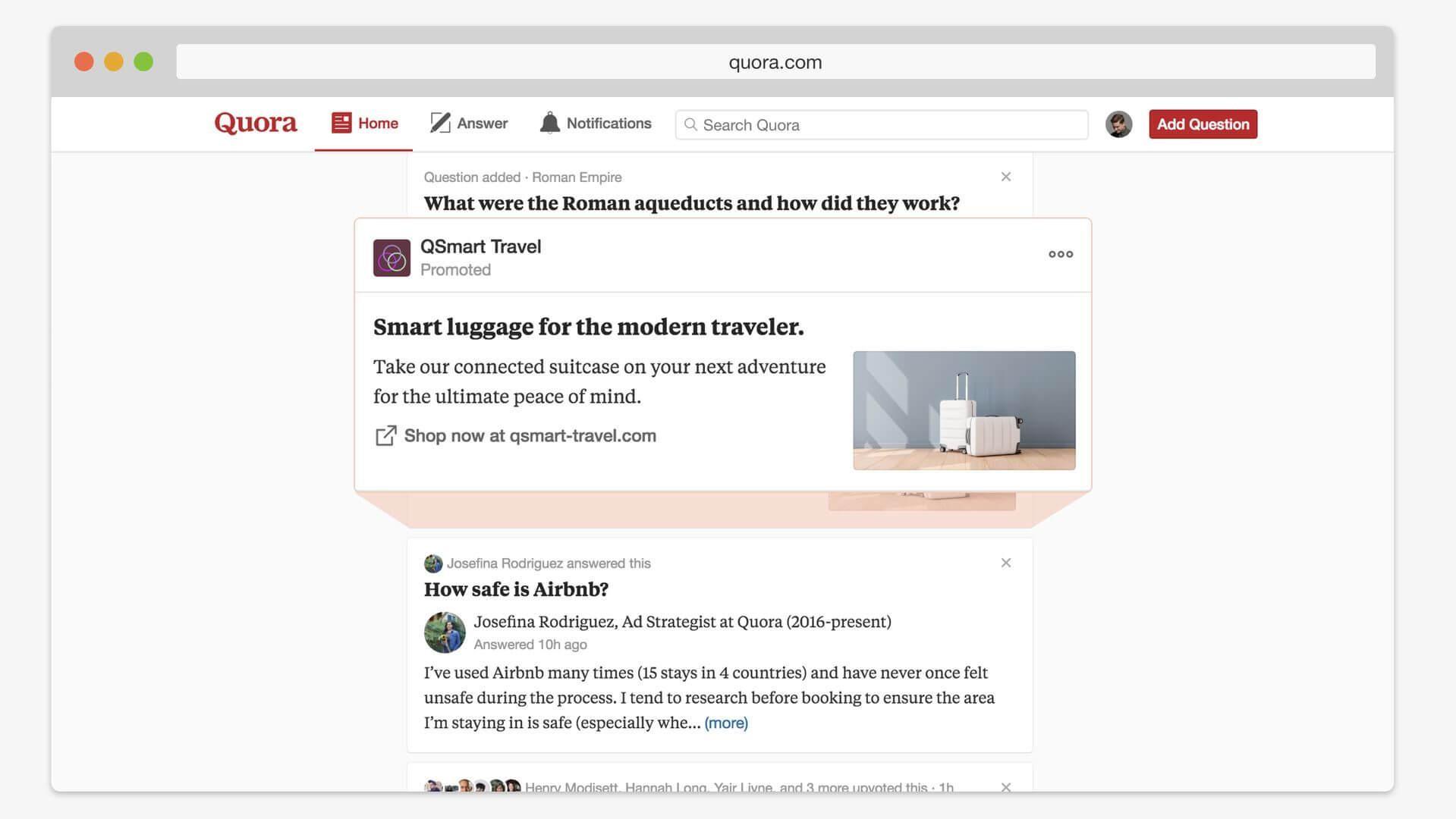 Website Like Quora advertisement