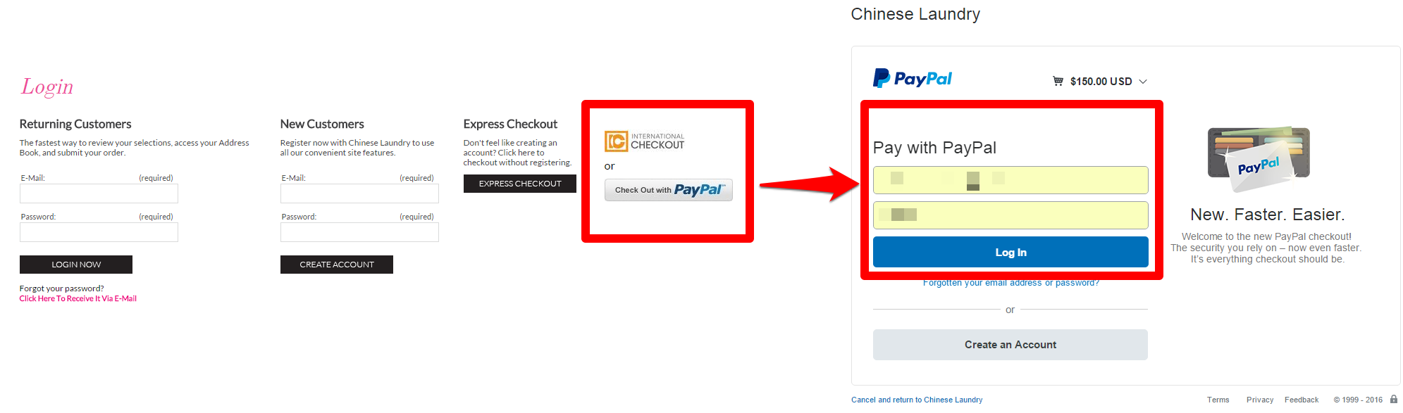 Payment Gateway on the Site scheme