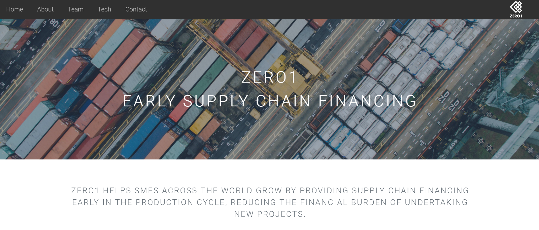 Zero1 Capital Blockchain Startups in Logistics