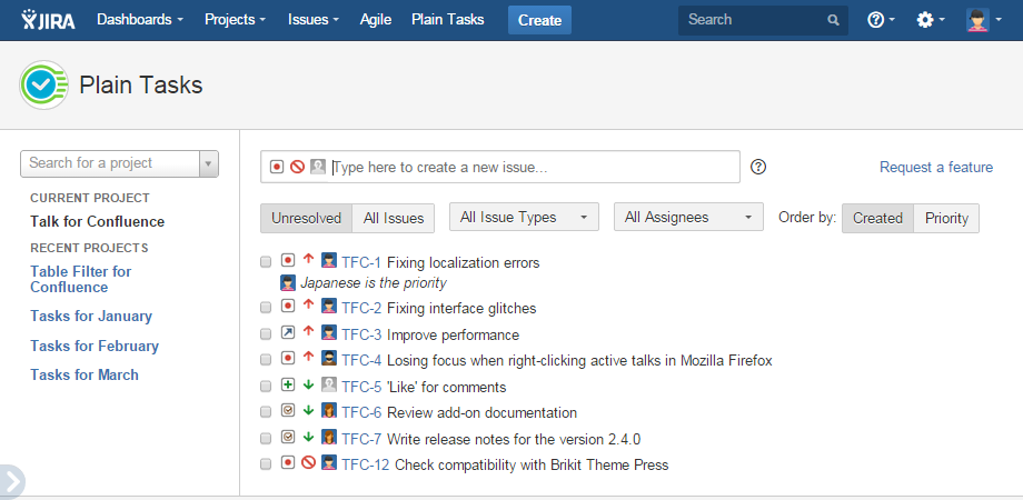 Jira and Trello 2020 Plain Tasks для Jira