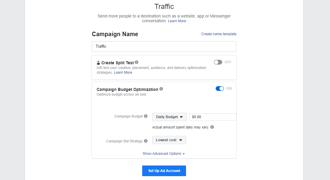 Facebook Ads Manager проверка
