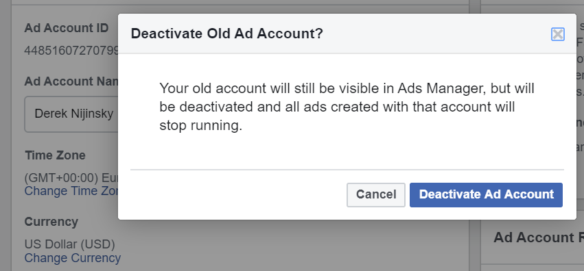team Create Facebook Ads Account