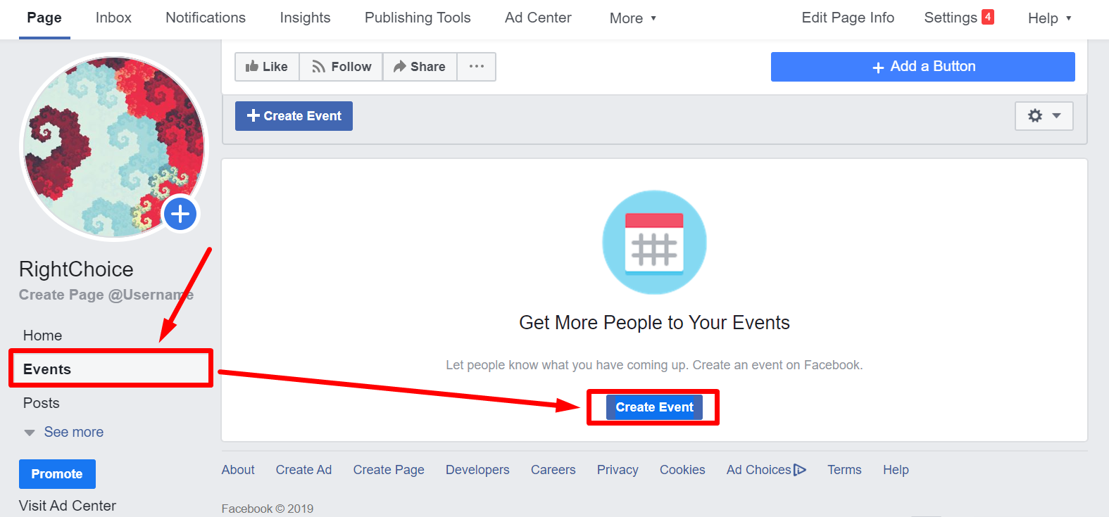 Facebook Business Page Events