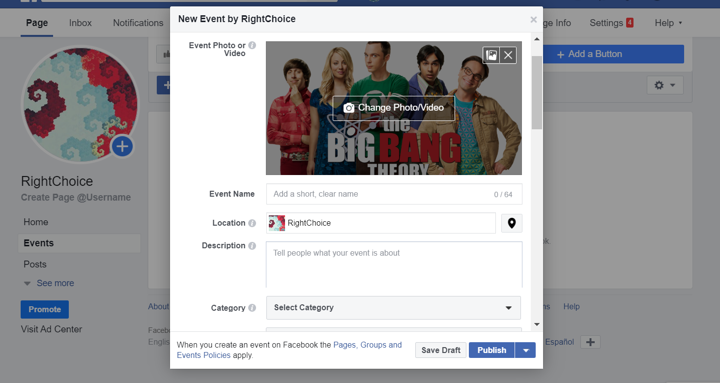 Facebook Business Page URL pages