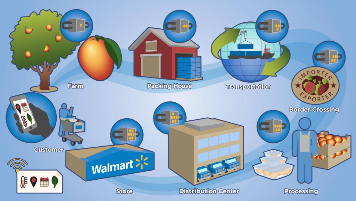 Как внедрить Блокчейн в Цепочку Поставок Walmart