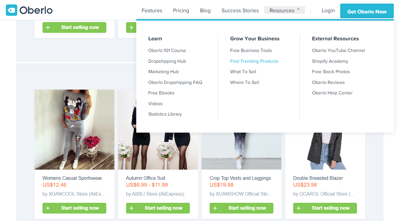 Oberlo Интернет-магазин одежды
