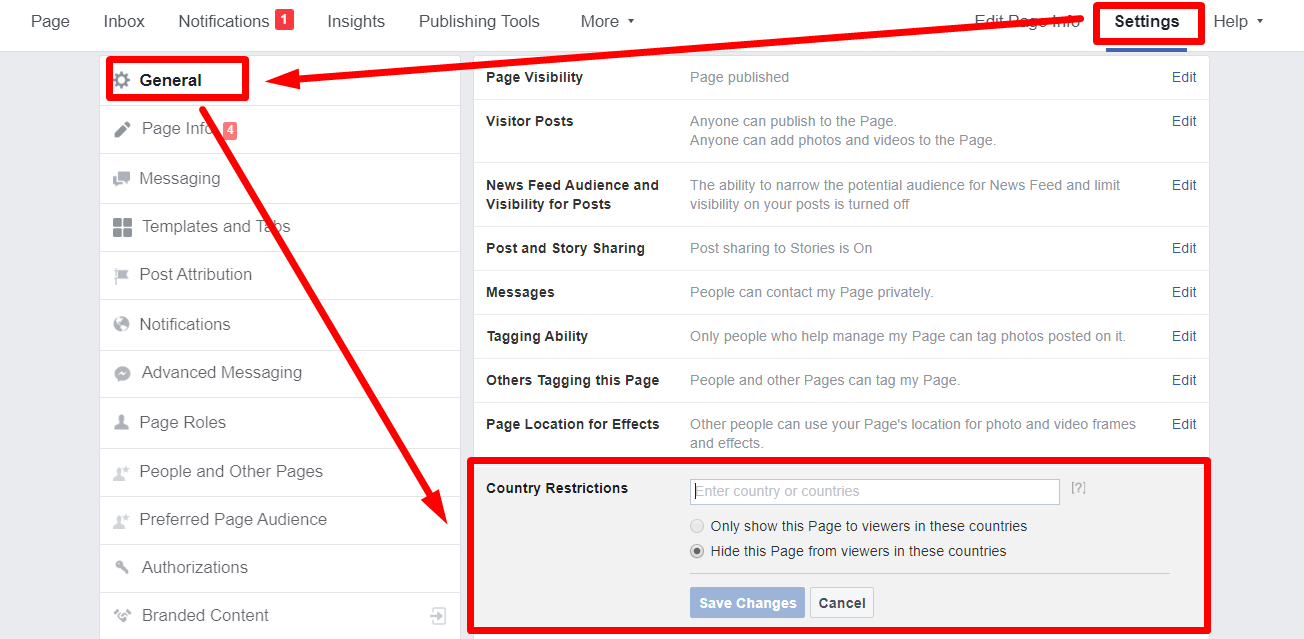 Facebook Business Page Restrictions