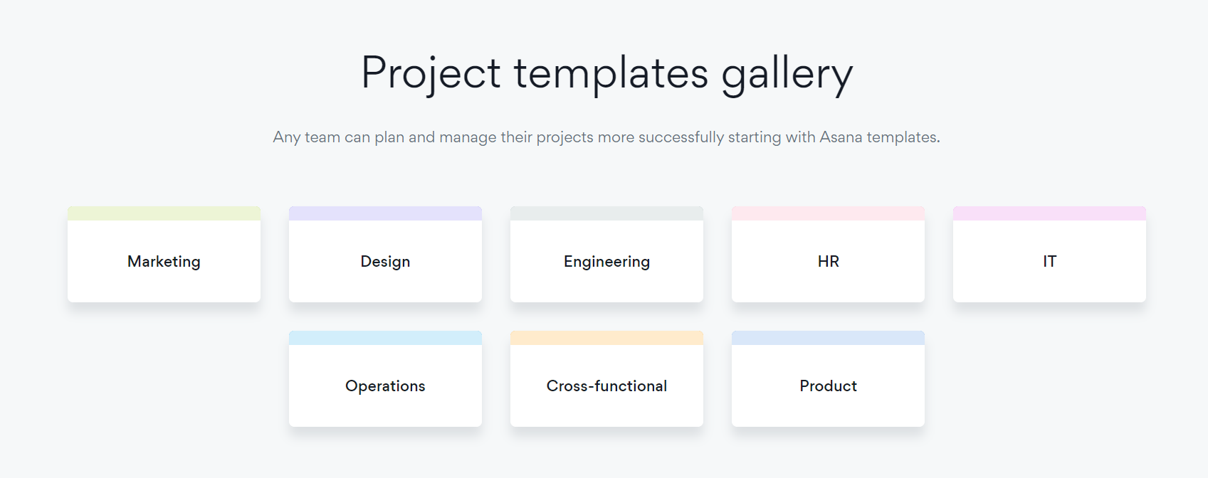 Asana Review 2020 Categories