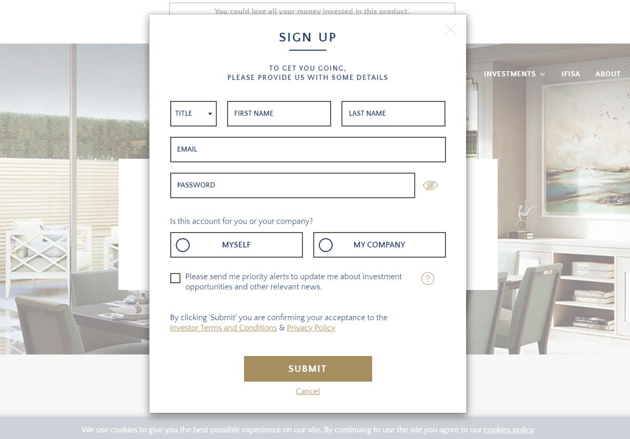 CapitalRise Registration Form Сколько Стоит Запуск Веб-сайт Краудфандинга