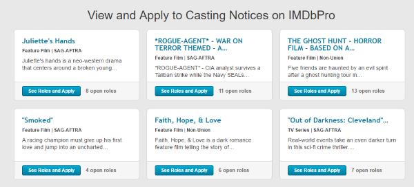 IMDb Website Clone Pro Casting service
