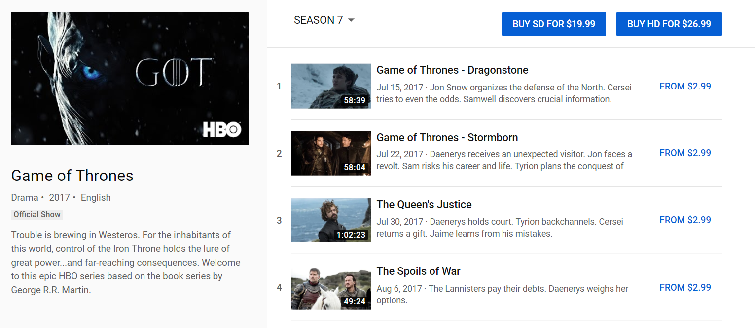 Build a Website Like Youtube and How Much Does It Cost Game of Thrones