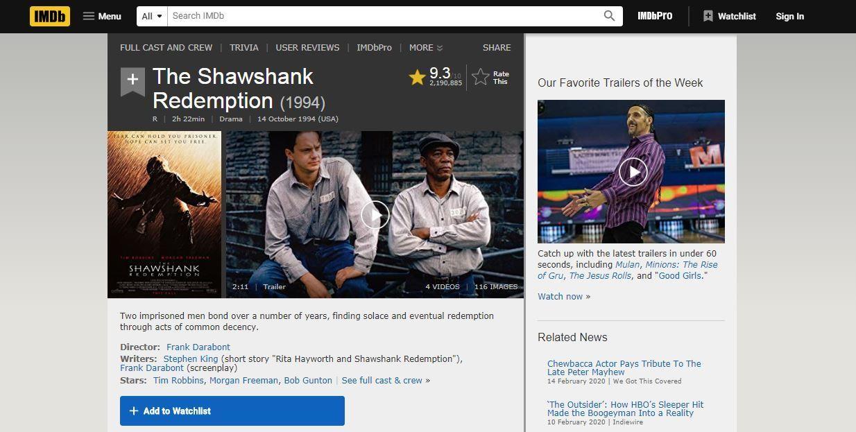 IMDb Movie Ratings & Reviews Website Like IMDb