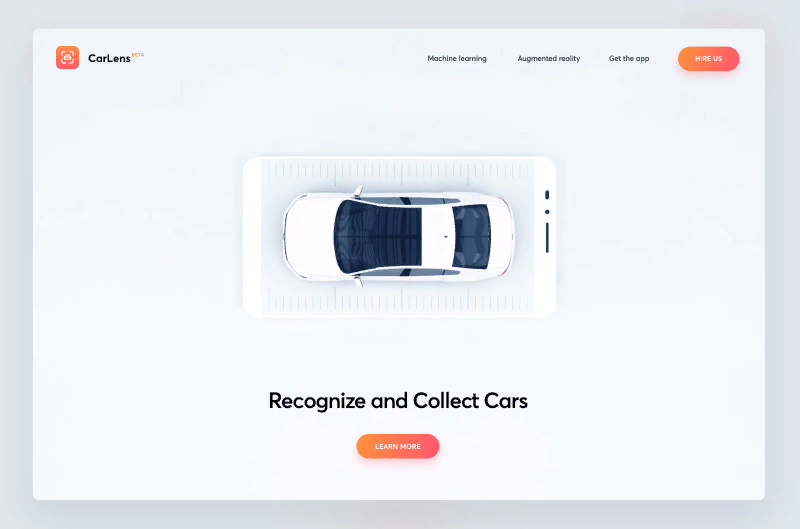 8 Main Trends of Web Design 2020 car