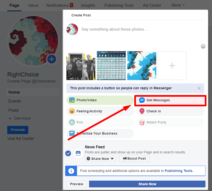 Facebook Business Page transition