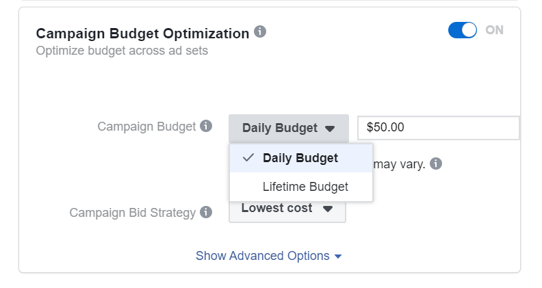 Facebook Ads Manager трафик