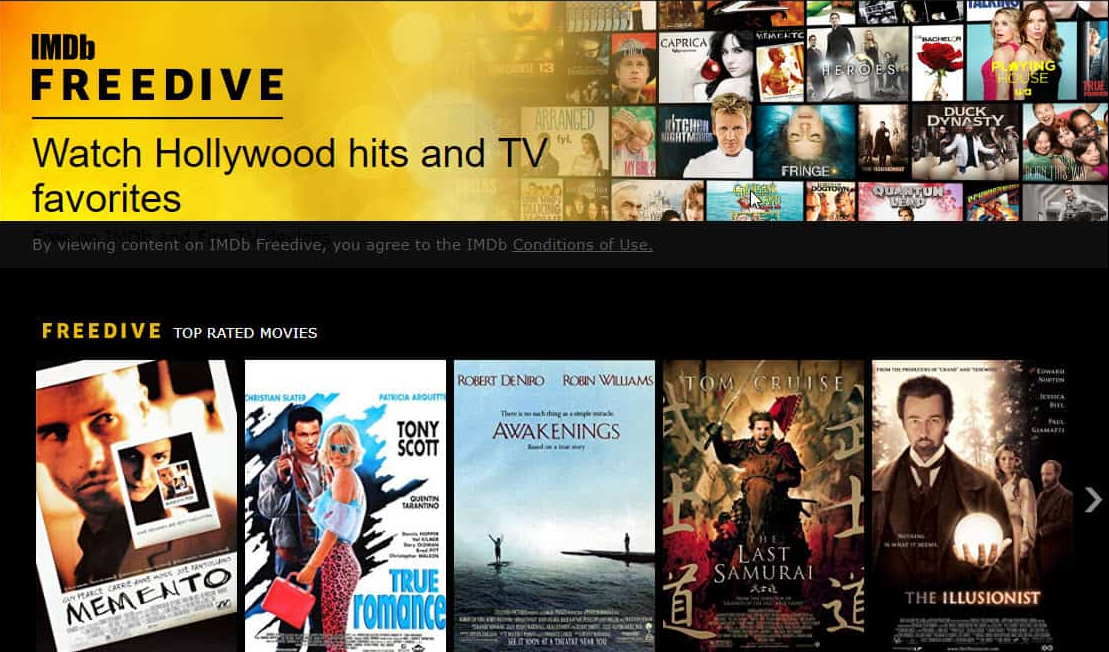 IMDb Website Clone Freedive