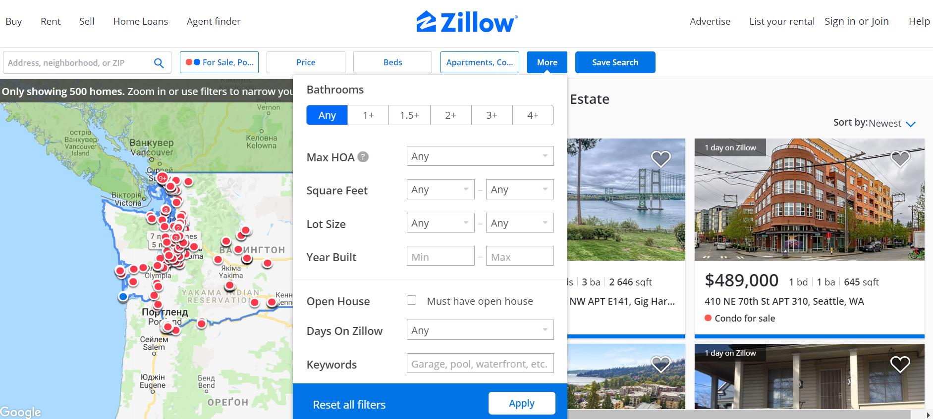 How to Build a Website Like Zillow filters