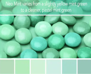 Color Trends in Web Design 2020 Mint Shades