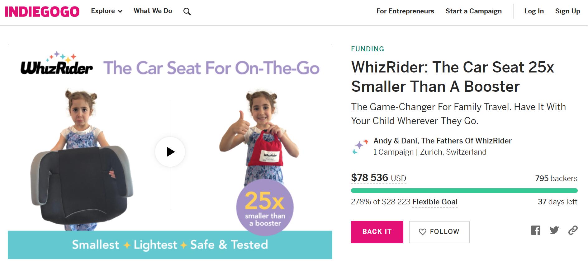 Crowdfunding Platform for Fundraising IndieGoGo