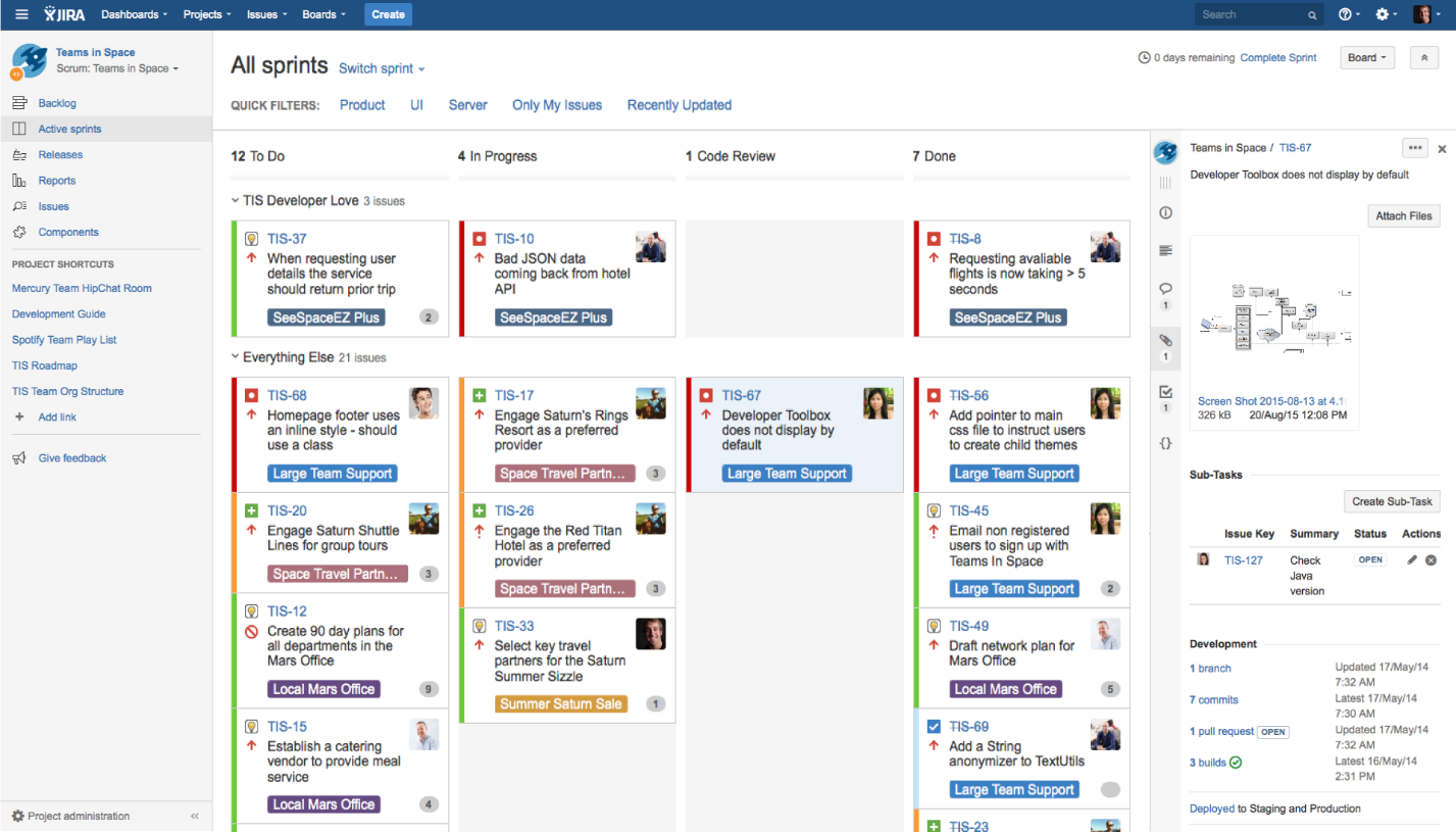 elements Differences Between Asana and Jira