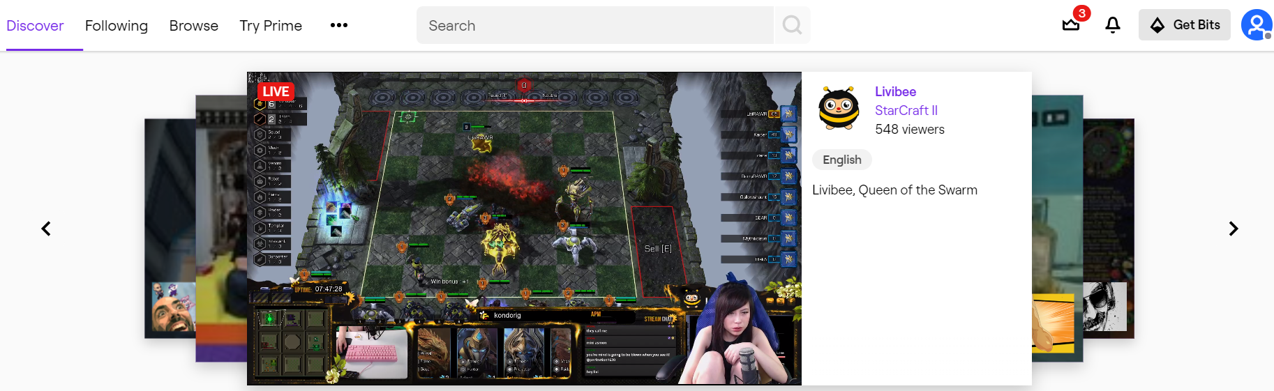 Twitch Live Video Streaming Website