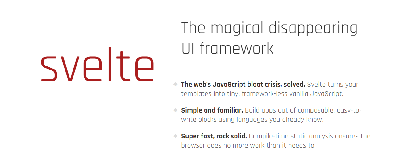 Top Javascript Framework and Libraries for 2020 Svelte
