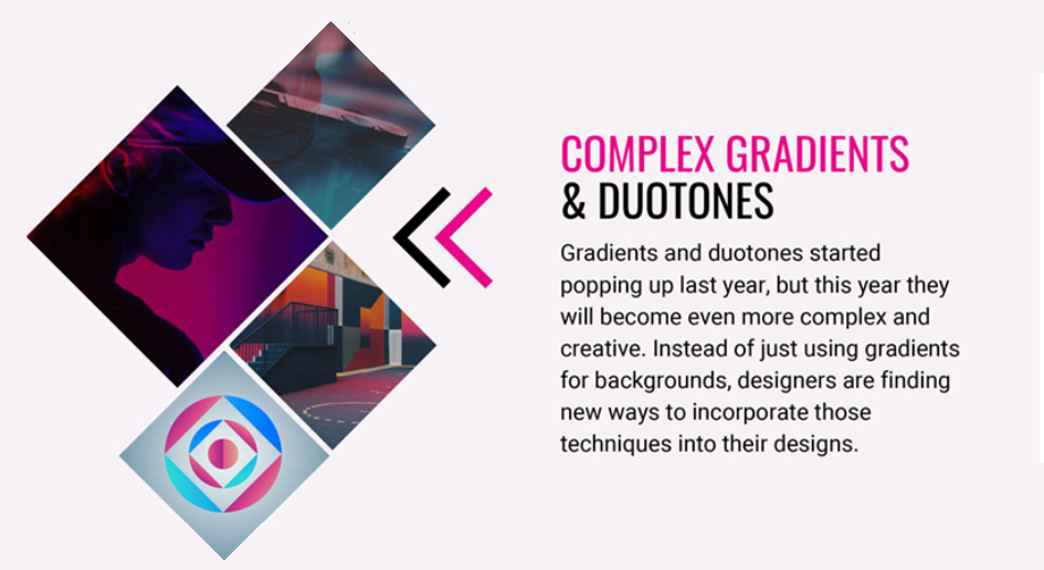 Top 10 Graphic Design Trends 2020 color transitions