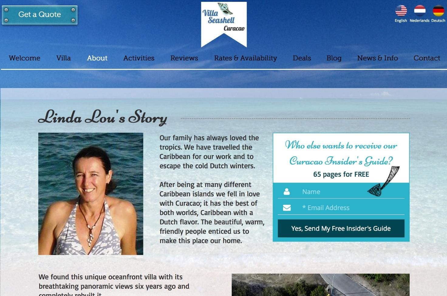 Homeowner Build a Vacation Rental Website