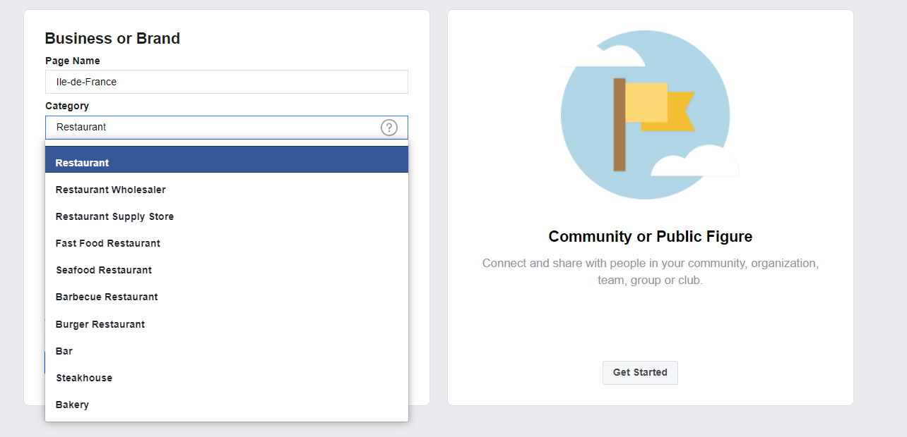options Create Facebook Ads Account