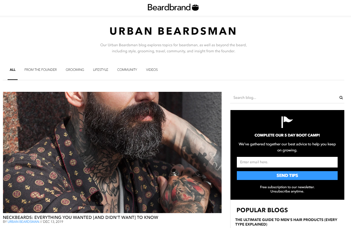 BeardBrand Digital Marketing Strategies for E-commerce