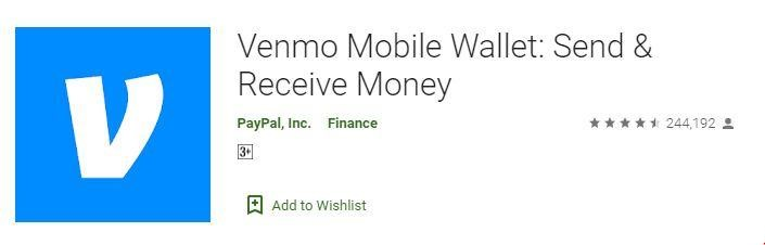 Venmo Mobile Wallet Android Apps for College Students