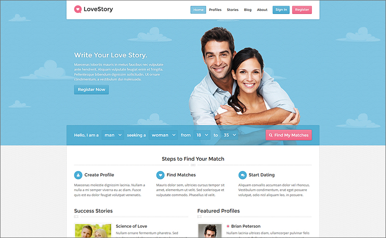 Dating Website Software LoveStory