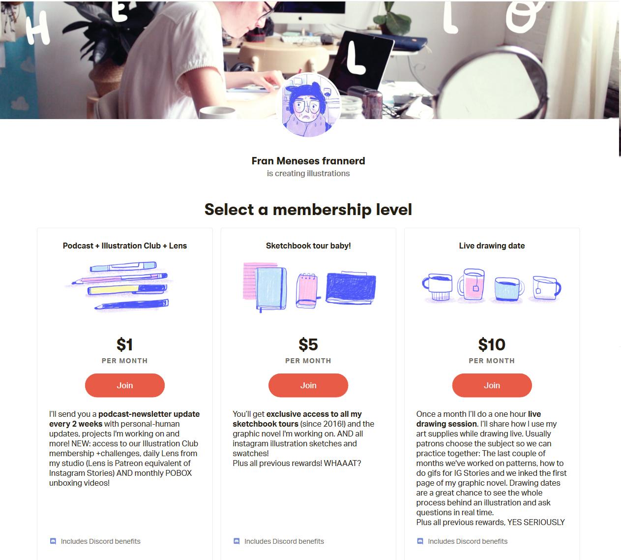 Клон Сайта Kickstarter Страница Fran Meneses