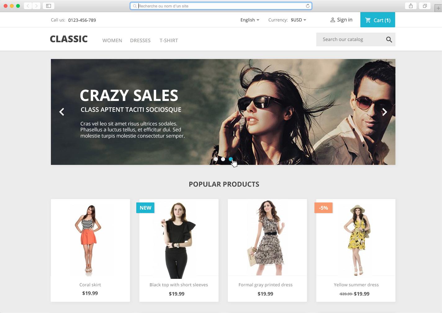 PrestaShop Е-Commerce Сайт с Нуля