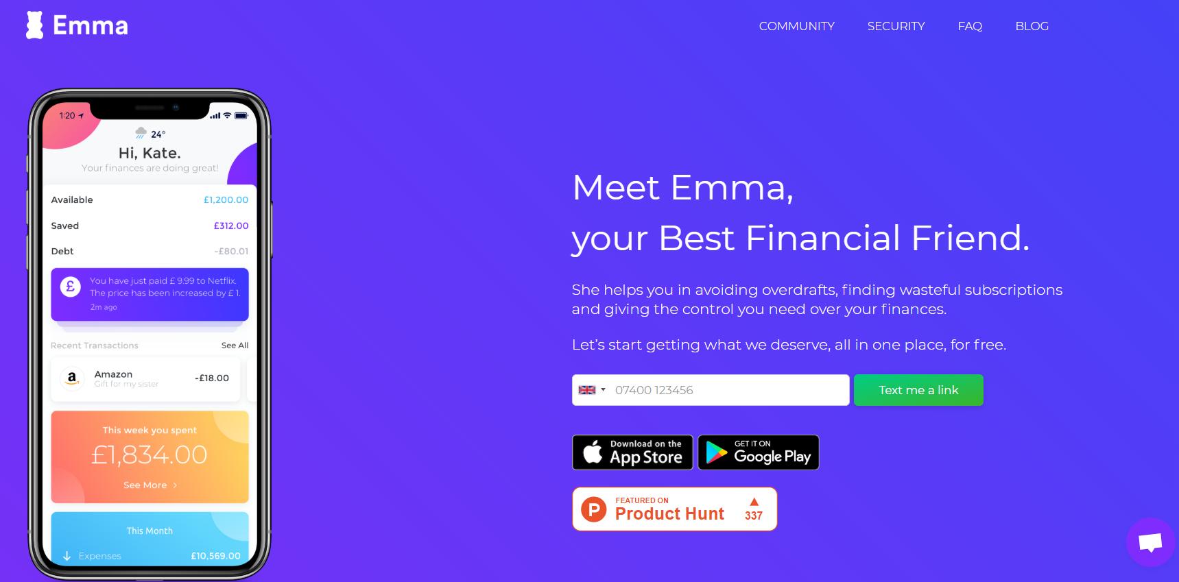 Приложение для Инвестиций Emma