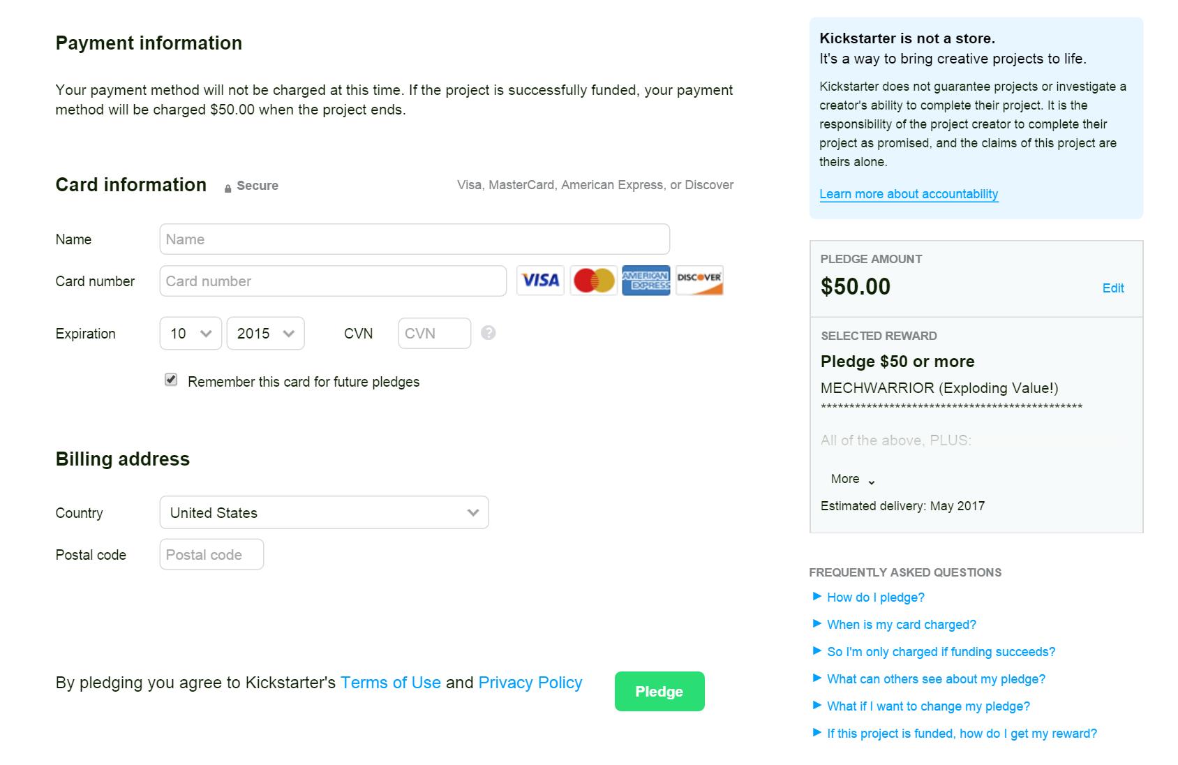 Crowdfunding Platform for Fundraising Kickstarter
