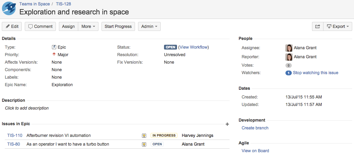 example Differences Between Asana and Jira