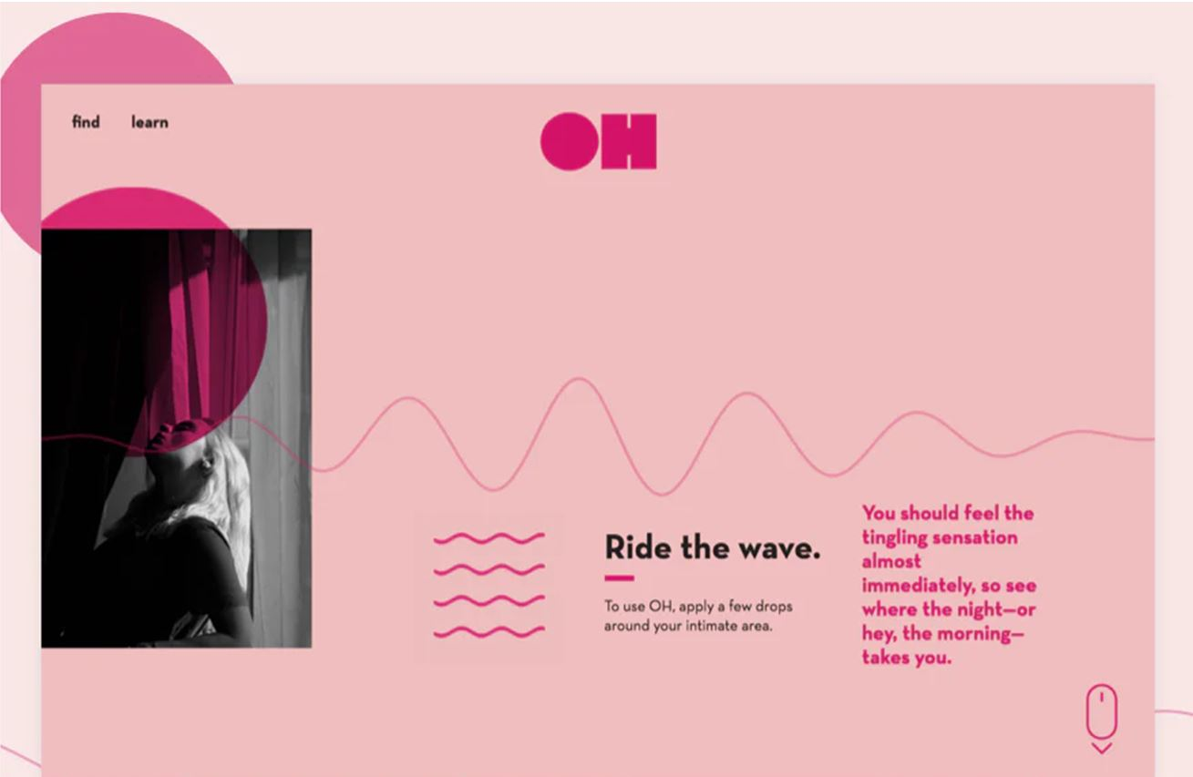 Application design with wavy patterns