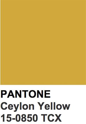 Pantone Color Trends 2019: Ceylon Yellow
