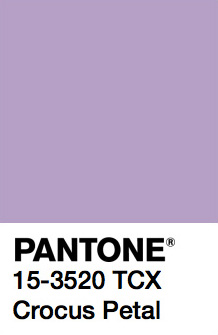 Pantone Color Trends 2019: Crocus Petal