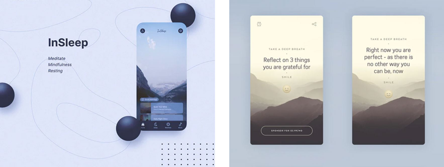 Examples of calm design of applications that are really eye-pleasing