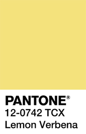 Pantone Color Trends 2019: Lemon Verbena