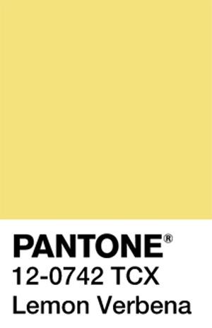 Pantone Color Trends 2019: Lemon Verbena