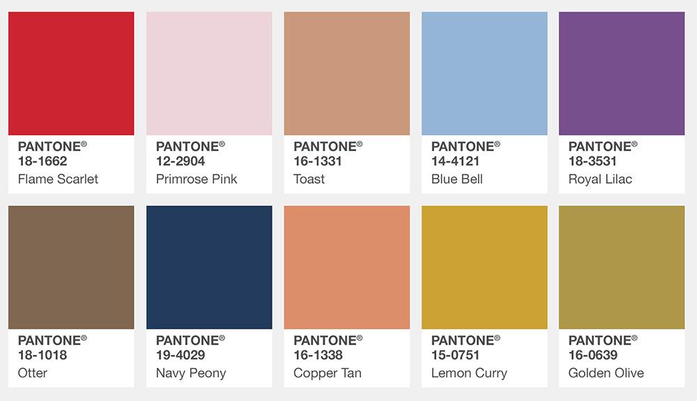 Pantone Color Trends 2019: List