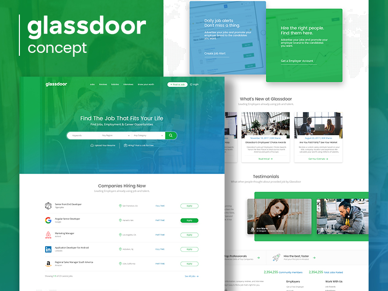 Клон Сайта Glassdoor
