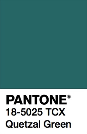 Pantone Color Trends 2019: Quetzal Green