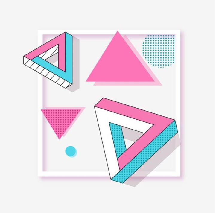 Геометрический дизайн в графике