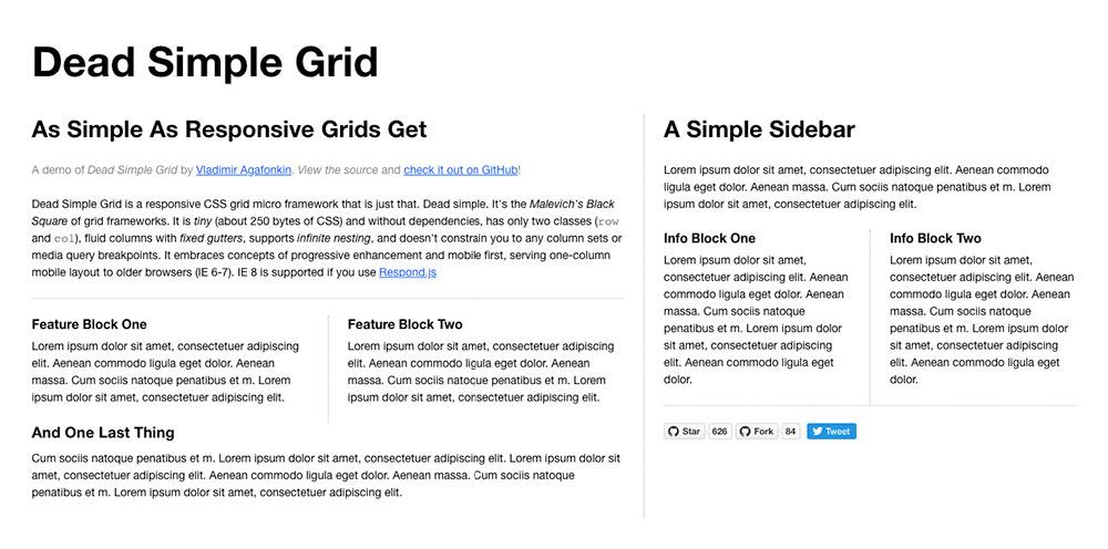 CSS Frameworks 2019 - Dead Simple Grid