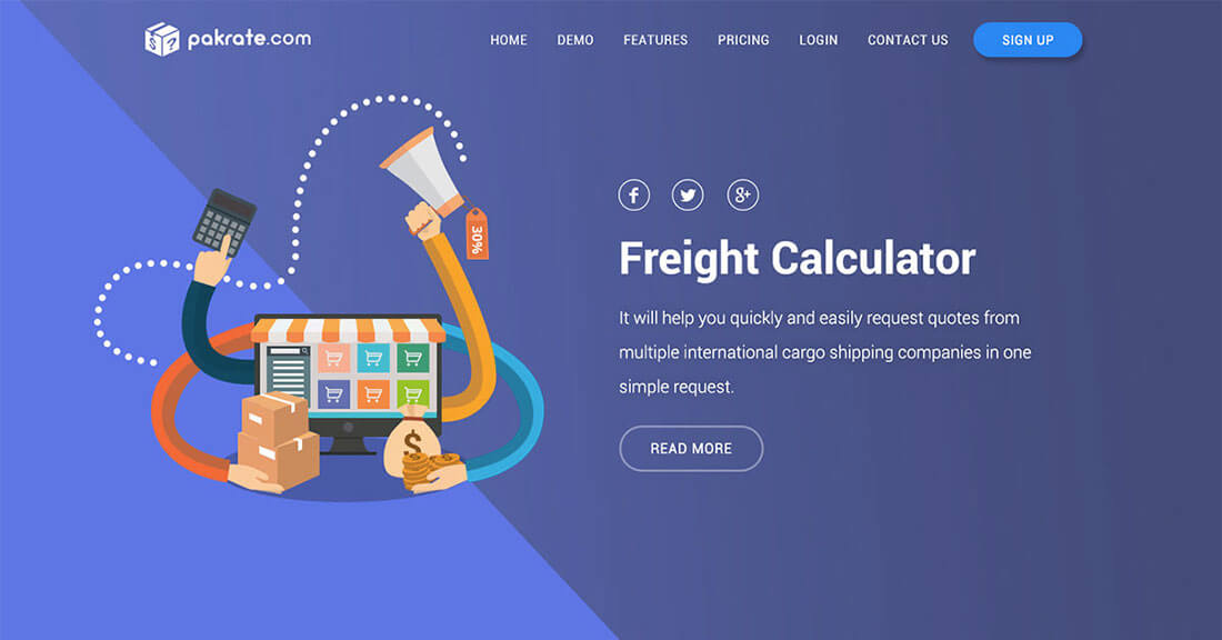 Website ideas 2018: comparing freight prices